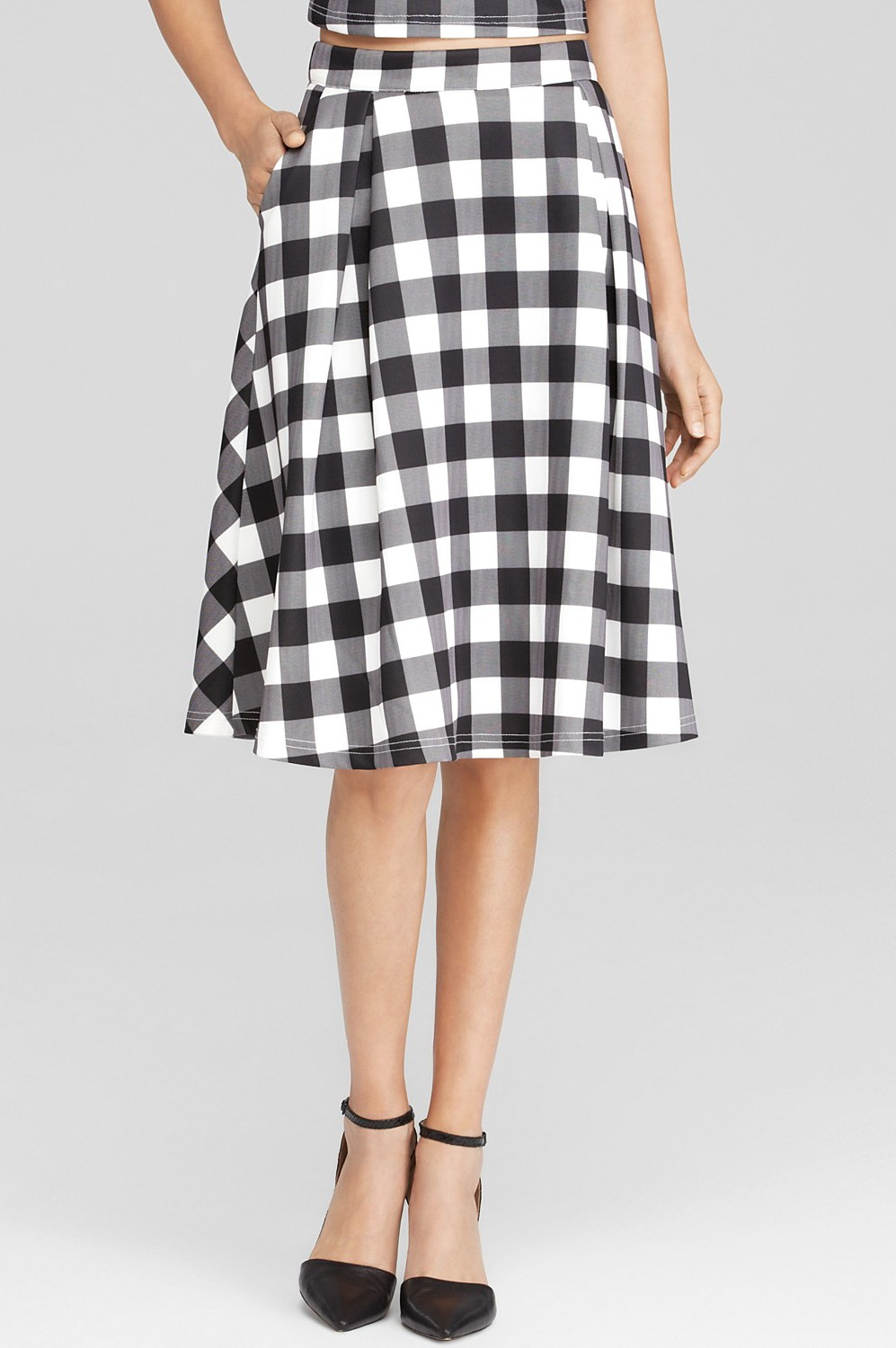 Gingham Scuba Skirt Couture Dame