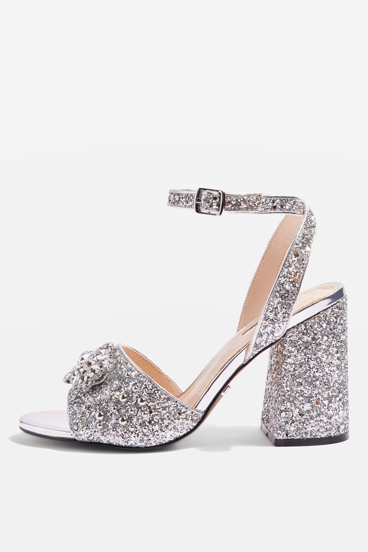 c631fd5a0bdf RAZZLE Glitter Block Heel Sandals – Couture Dame